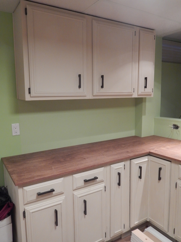 More counter and cabinets.