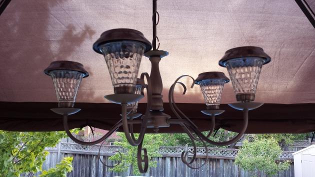 New solar chandelier