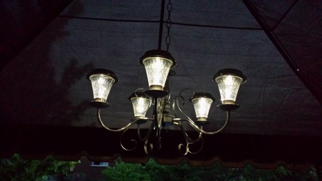 Solar light chandelier magic.