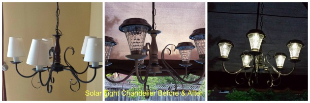 solar light chandelier
