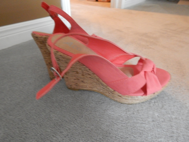 Coral wedges. The perfect little summer go-to sandal.